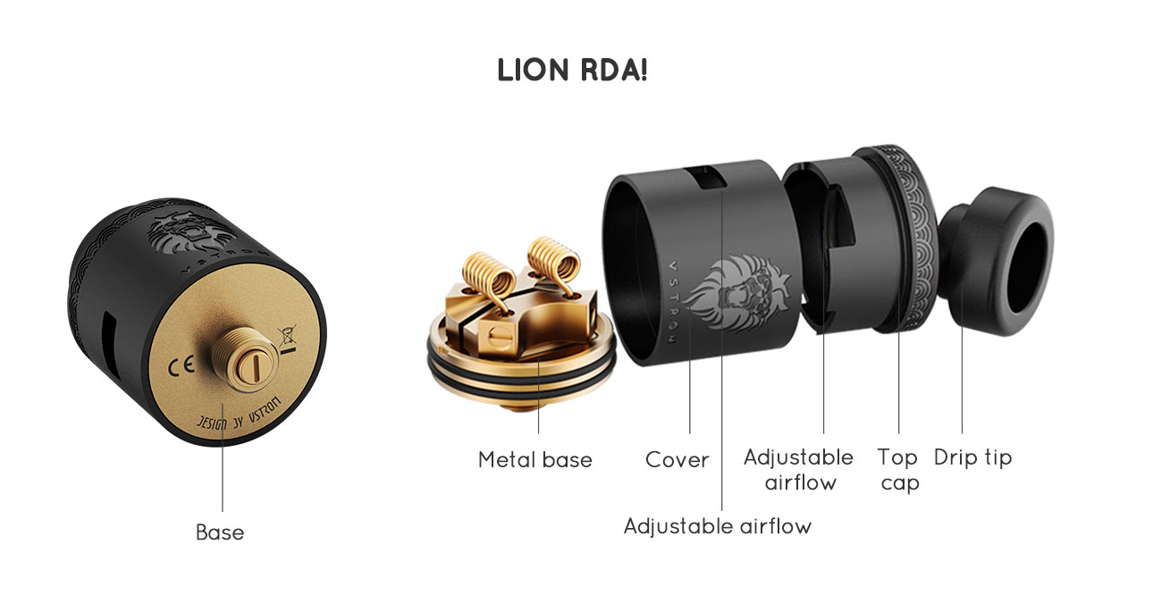 Vapor Storm Puma Baby Kit with Lion RDA Features 3